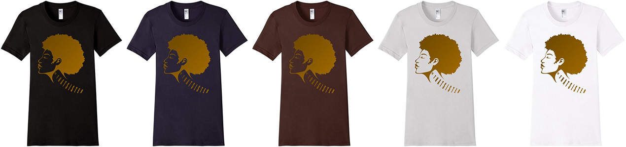 That sister t shirt showcase 5 colors for black women natural hair