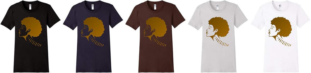 That sister t shirt showcase 5 colors for black women natural hair